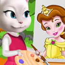 game Angela Painting Baby Belle