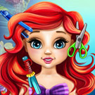 game Baby Ariel Real Haircuts
