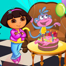 game Baby Dora Boots Birthday Party Decor