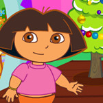 game Baby Dora Christmas Room Clean