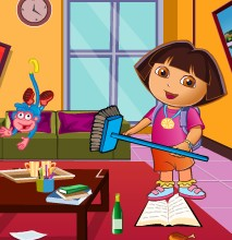 game Baby Dora House Clean Time