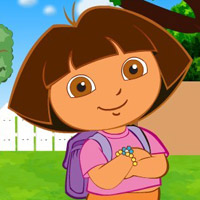game Baby Dora School Time