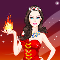 game Barbie Fire Princess Dress Up