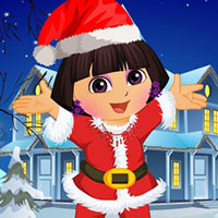game Dora Christmas Dressup
