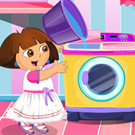 game Dora Laundry Cleaning Time