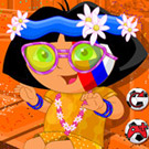 game Face Painting Dora FIFA 2014