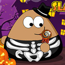 game Pou Halloween Slacking