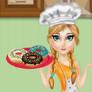 game Princess Anna Cooking Donuts