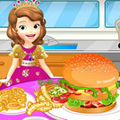 game Sofia The First Cooking Hamburgers