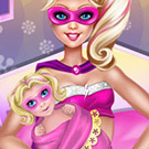 game Super Barbie baby birth